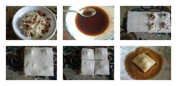 Simit Tadında Sucuklu Kaşarlı Milföy Böreği