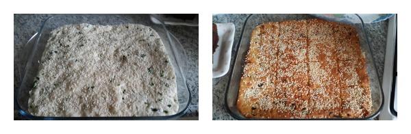 Simit Tadında Peynirli Tepsi Çöreği